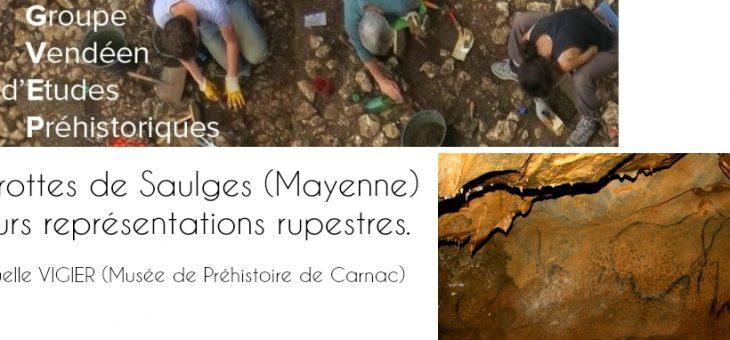 Conférence de préhistoire et d'archéologie : Les grottes de Saulges (Mayenne) et leurs représentations rupestres.