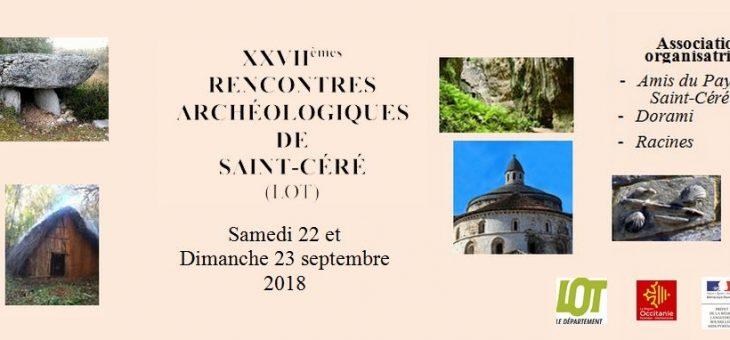XXVIIèmes Rencontres archéologiques de Saint-Céré